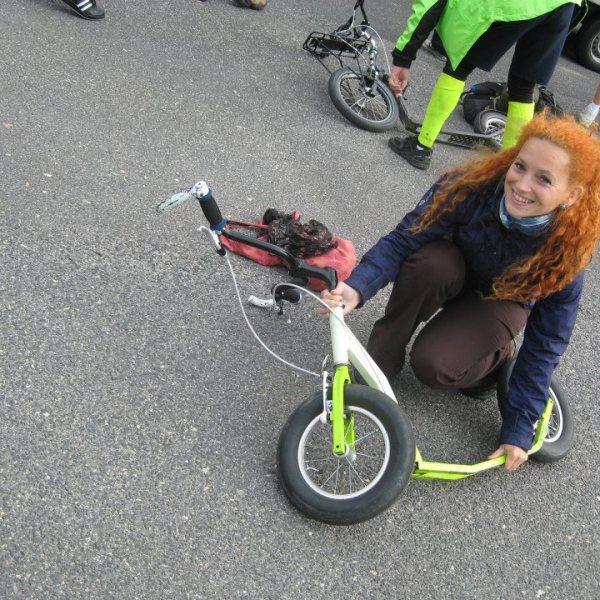 Skládací koloběžka K-bike K5 Pepeho Kvity