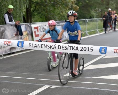 Blanenská desítka 2015 –závody koloběžek