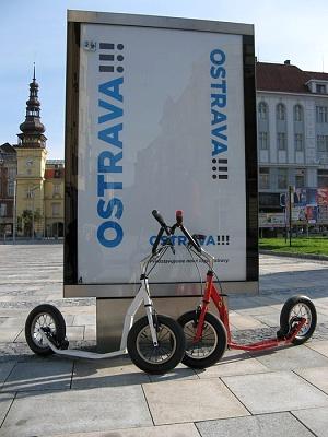 Koloběžky K-bike K5 v Ostravě
