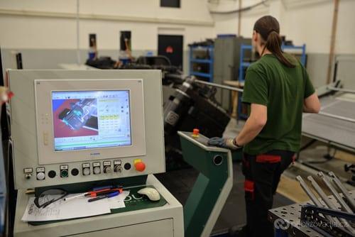 CNC ohýbačka v akci
