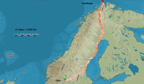 Ondřej Sitek: Nordkapp – putování na koloběžce k severu
