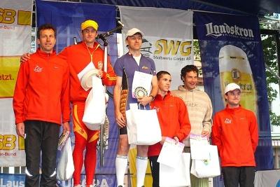 Rollo Liga 2012 (Europamarathon) – Görlitz-Zgorzelec 3. 6. – Muži: 1. Jan Vlášek, 2. Ladislav Provod, 3. Alois Onderka | Foto Jan Horák