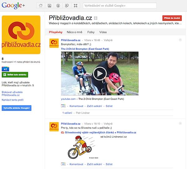 Google+ Přibližovadla.cz