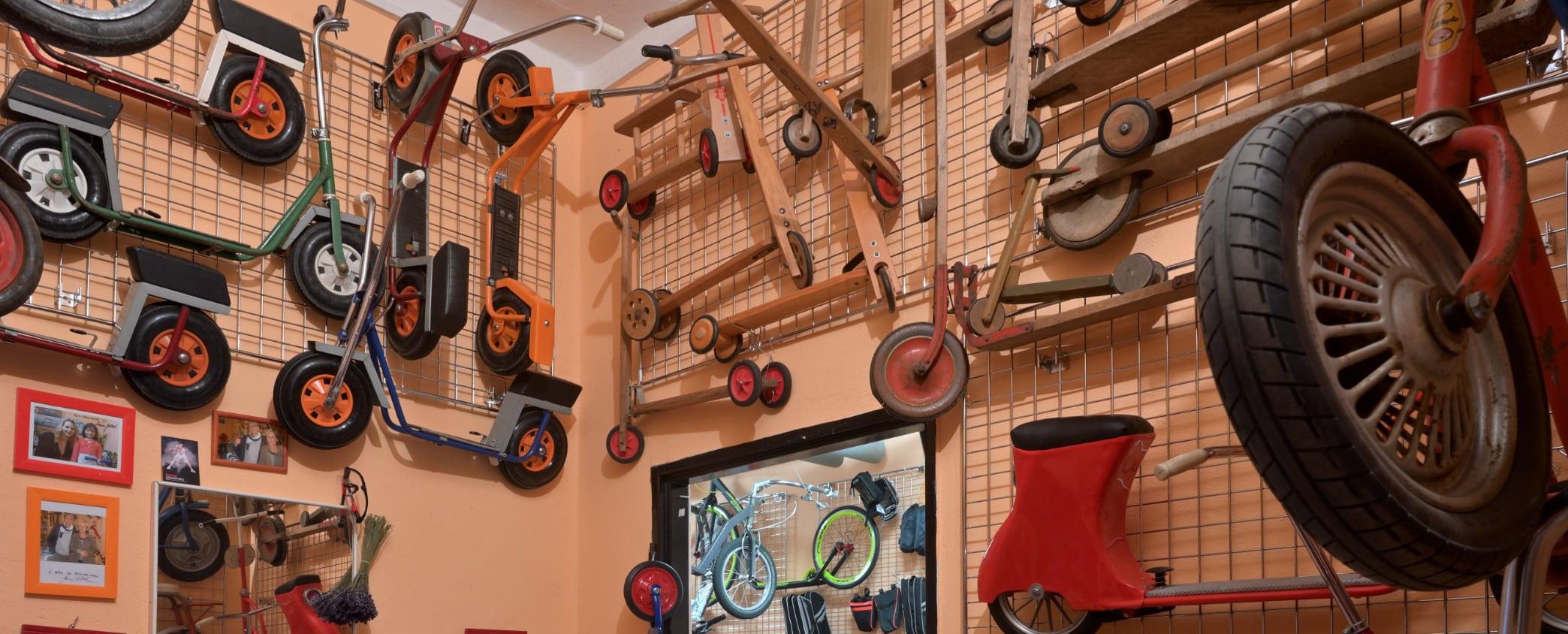 Na návštěvě: Koloběžky Nistler –suterénní koloběžkový svět