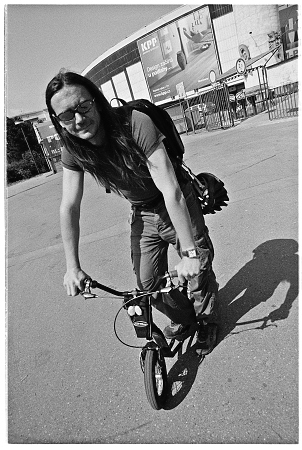 Petr Lindner na koloběžce K-bike K6