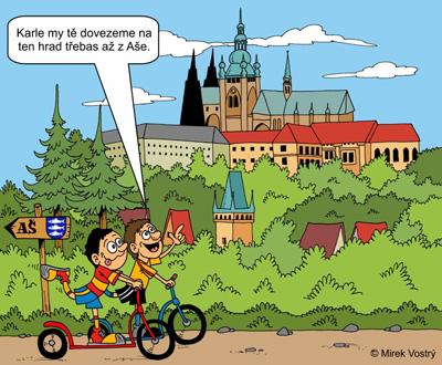 Na koloběžce z Aše na Pražský hrad